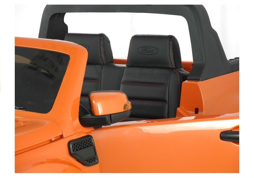 elektroauto f r kinder ford ranger orange fm radio 4x45w. Black Bedroom Furniture Sets. Home Design Ideas