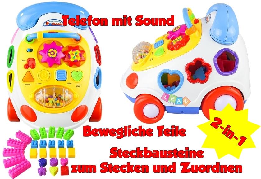 Spieltelefon spielcenter mit sound in spielzeug
