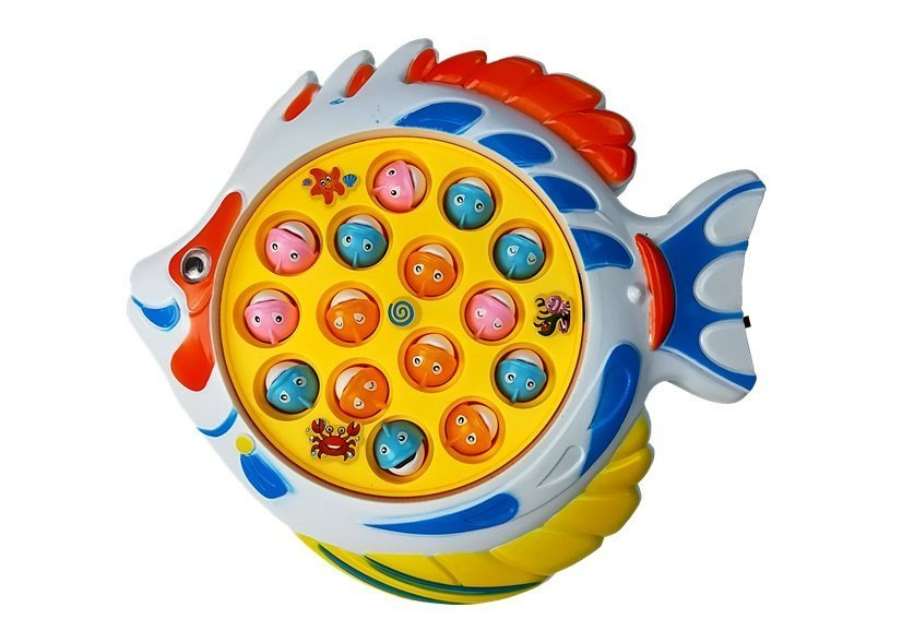 A funny fishing game with music 2 rods 15 fish toys for Funny fishing songs