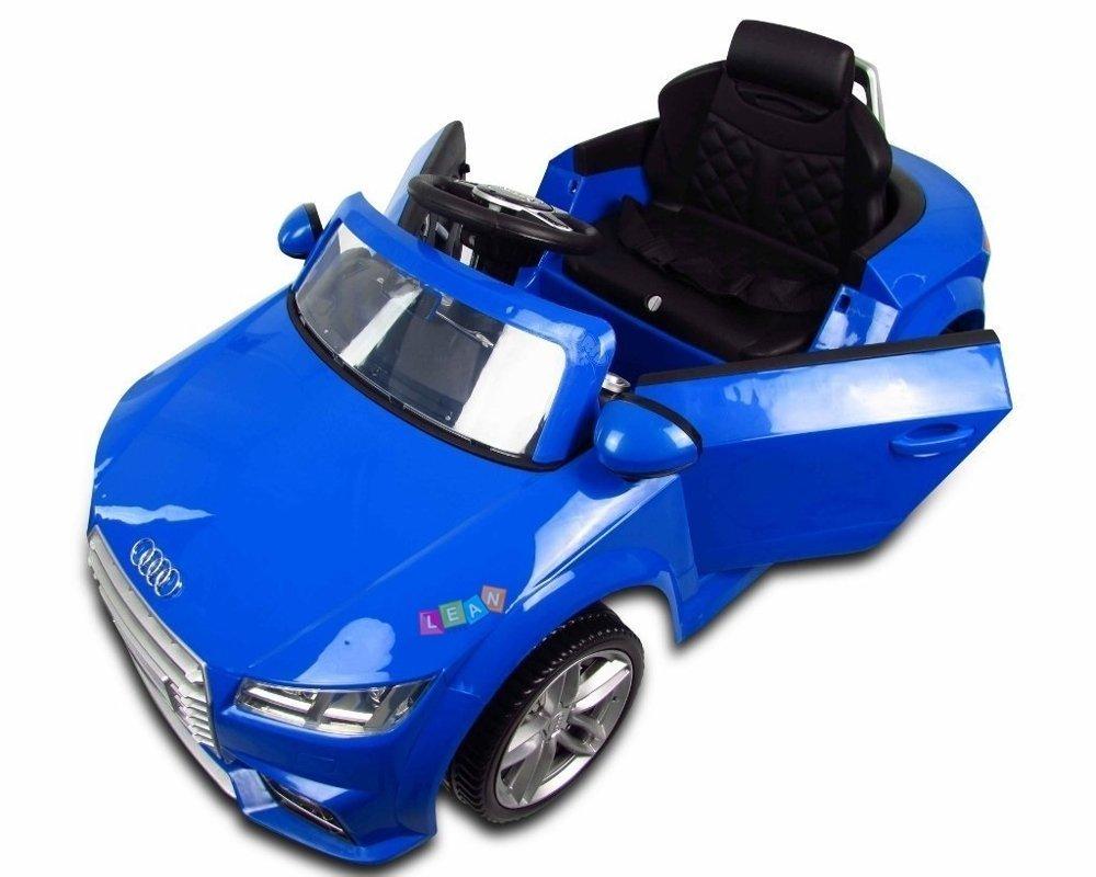 audi tt rs blue electric ride on car