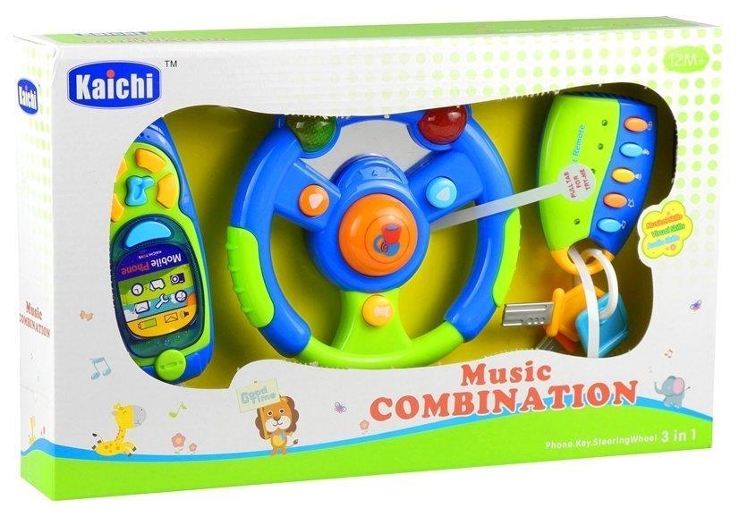 Baby Car Set Keys Steering Wheel Mobile Phone Toys
