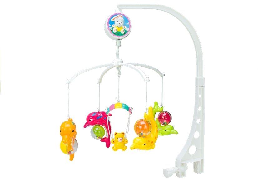 baby musical mobile crib cot hanger dolphin wind up. Black Bedroom Furniture Sets. Home Design Ideas