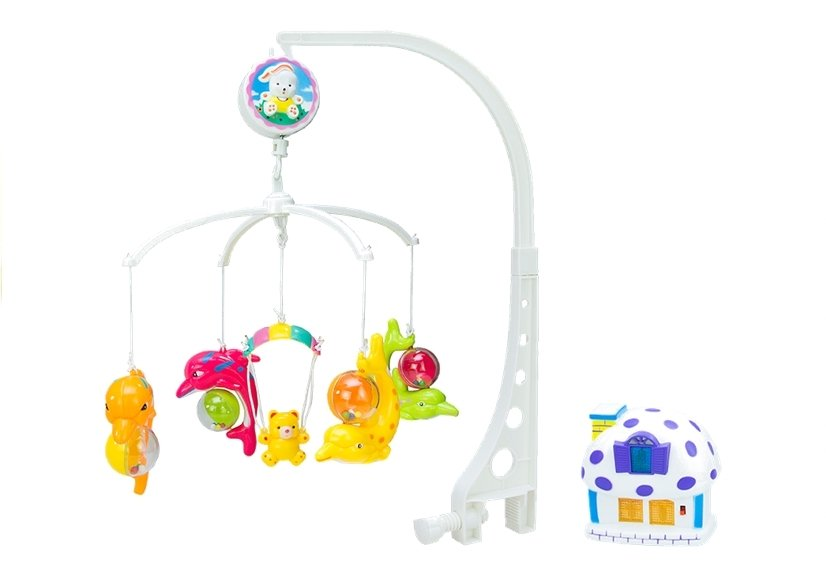 Baby Musical Mobile Crib Cot Hanger Dolphin Wind Up ...