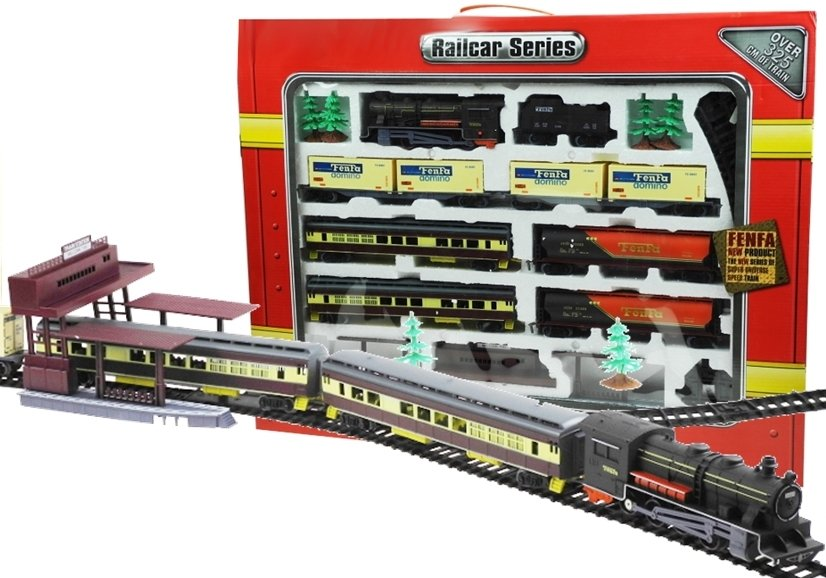 Fenfa Electric Train Set 6 Wagons Toys Train Sets And