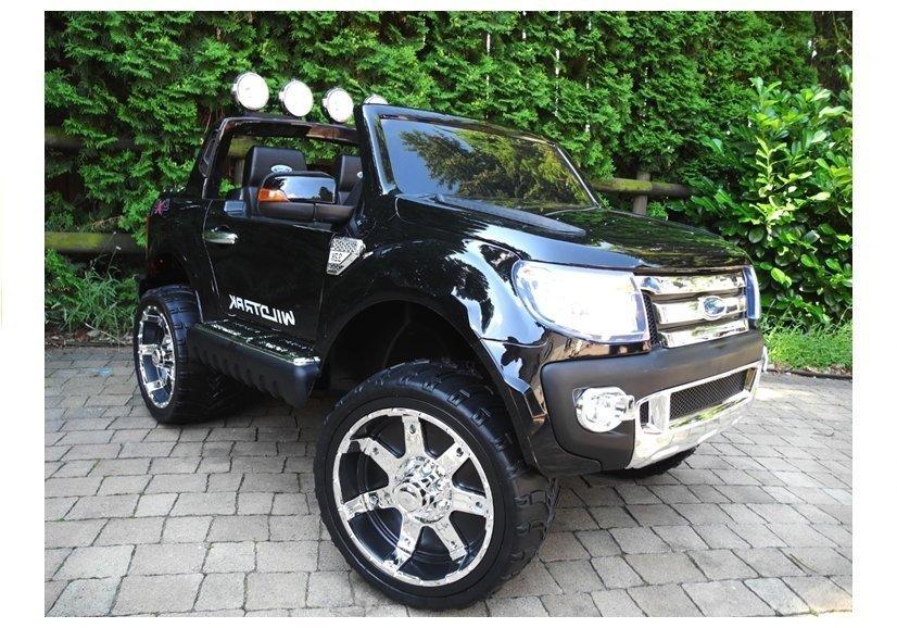 ford ranger black electric ride on car 2 4g rc eva wheels leather seat electric ride on. Black Bedroom Furniture Sets. Home Design Ideas