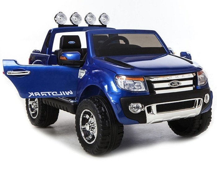 ford ranger blue painting electric ride on car 2 4g rc eva wheels leather seat electric ride. Black Bedroom Furniture Sets. Home Design Ideas