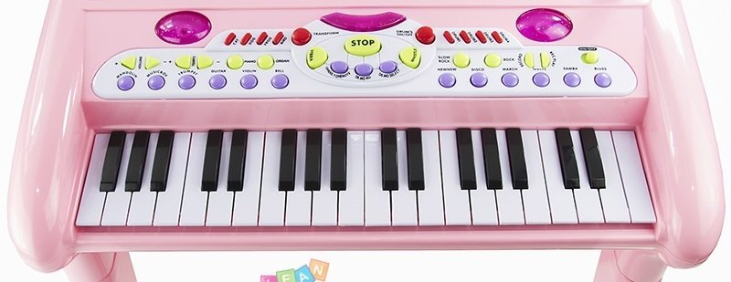 Kids Childrens Music Instrument Piano 2 Colours Stool