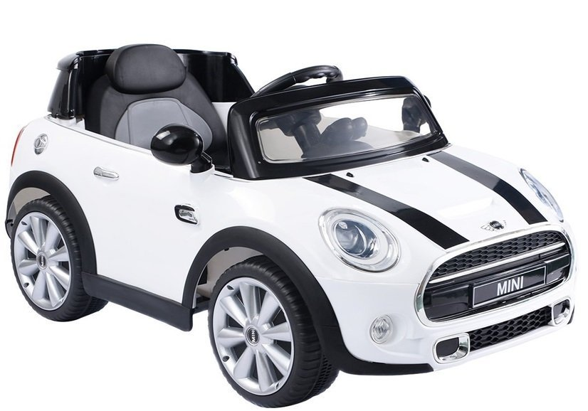 kids electric ride on car licensed white mini cooper 2 x 45w remote control electric ride on. Black Bedroom Furniture Sets. Home Design Ideas