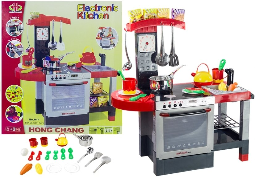 Kitchen With Accessories Realistic Role Play Set Toys
