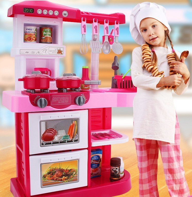 My Little Chef Kitchen Set Blue & Red Colour