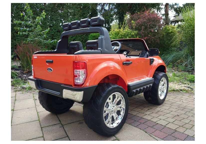 new ford ranger orange 4x4 electric ride on car electric ride on vehicles cars. Black Bedroom Furniture Sets. Home Design Ideas