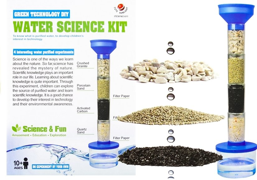 Water Purifying Kit Science Green Technology Set Clean