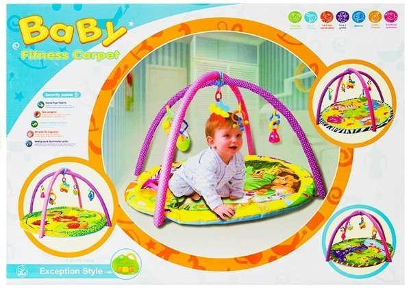 Baby Activity Gym Hanging Toys Mat 4 Types