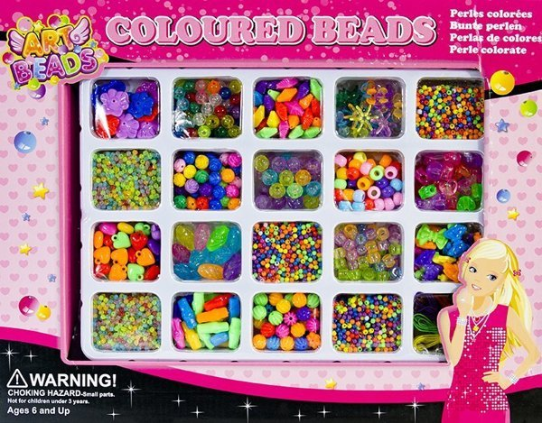 Colourful Beads Set - DIY Kit 20 Types of Beads Jewellery Making