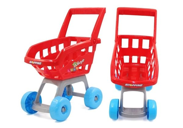 Kids Childrens Roleplay Set Home Supermarket Lights Sounds Shopping Trolley