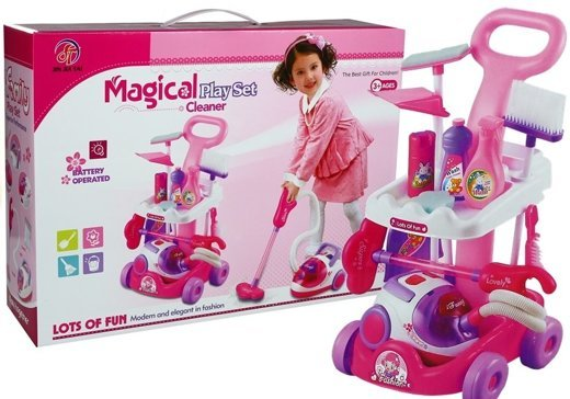 Household Cleaning  Toy Set with Vacuum Cleaner
