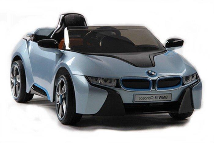 elektroauto kinder bmw i8 blau felgen schalter am lenkrad. Black Bedroom Furniture Sets. Home Design Ideas