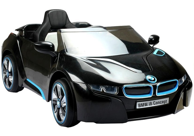 elektroauto kinder bmw i8 schwarz elektrofahrzeuge autos. Black Bedroom Furniture Sets. Home Design Ideas