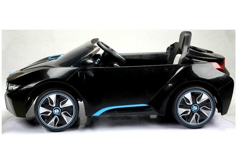 elektroauto kinder bmw i8 schwarz elektrofahrzeuge autos. Black Bedroom Furniture Sets. Home Design Ideas