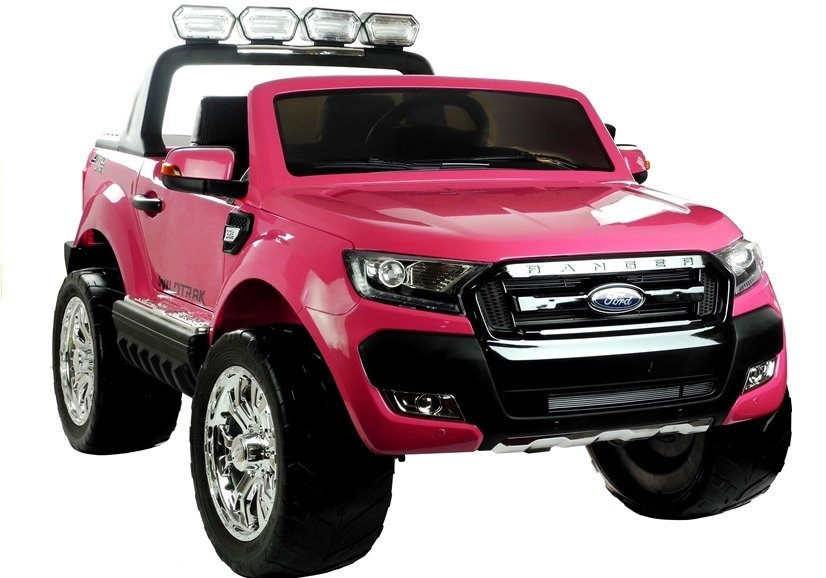 elektroauto f r kinder ford ranger rosa fm radio 4x45w 2. Black Bedroom Furniture Sets. Home Design Ideas