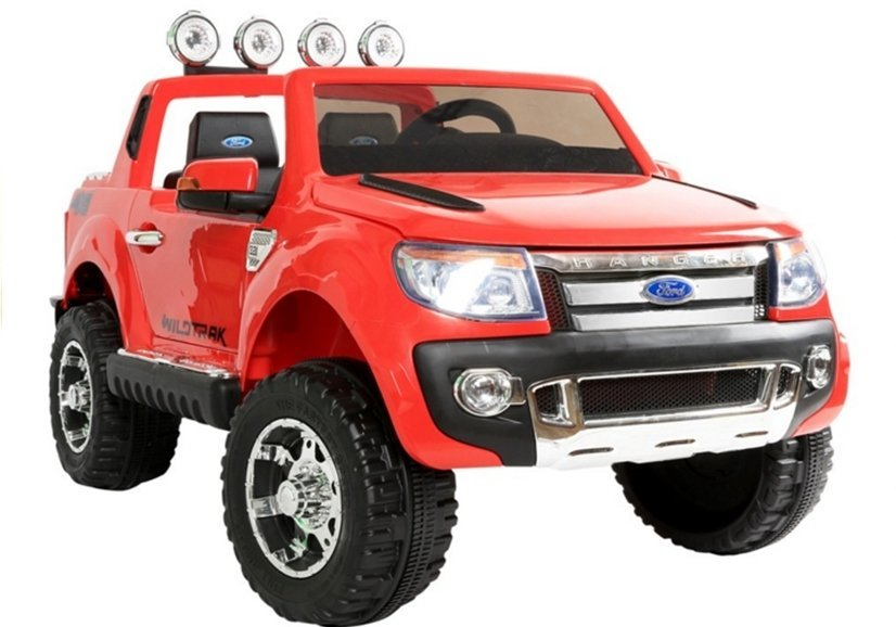 elektroauto f r kinder ford ranger rot fm radio 2 4g rc. Black Bedroom Furniture Sets. Home Design Ideas