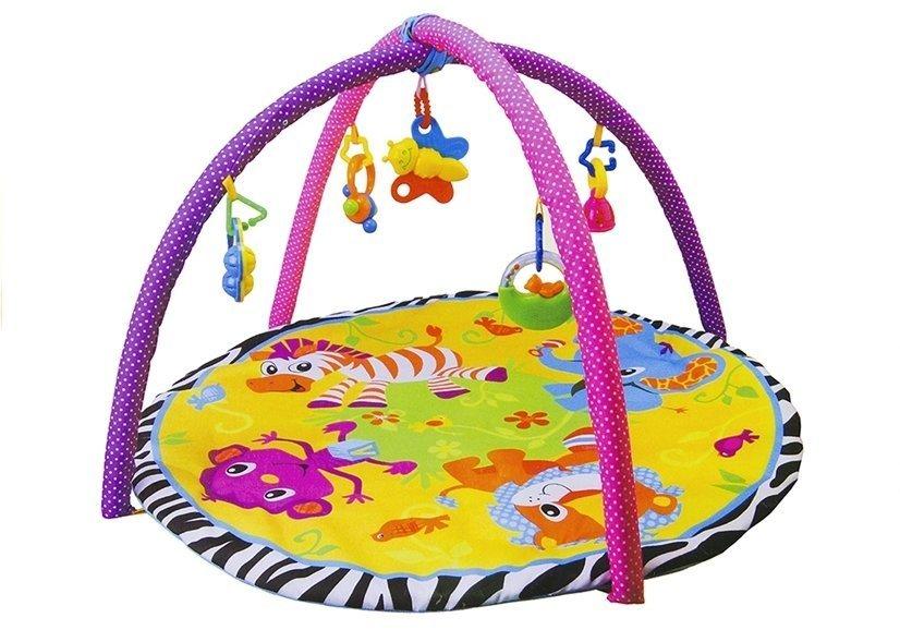 baby krabbeldecke spieldecke spielbogen erlebnisdecke rund. Black Bedroom Furniture Sets. Home Design Ideas