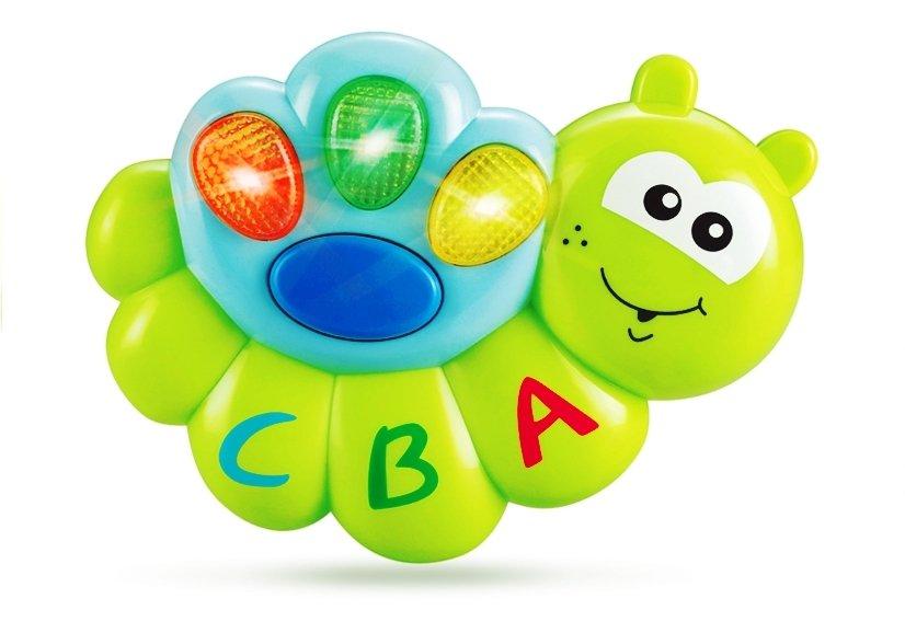 Baby spielzeug rasseln set würmchen licht sound