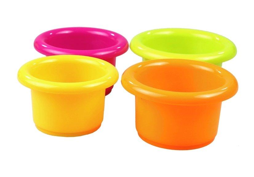 Badespielzeug ente bunte becher set für baby kinder ab