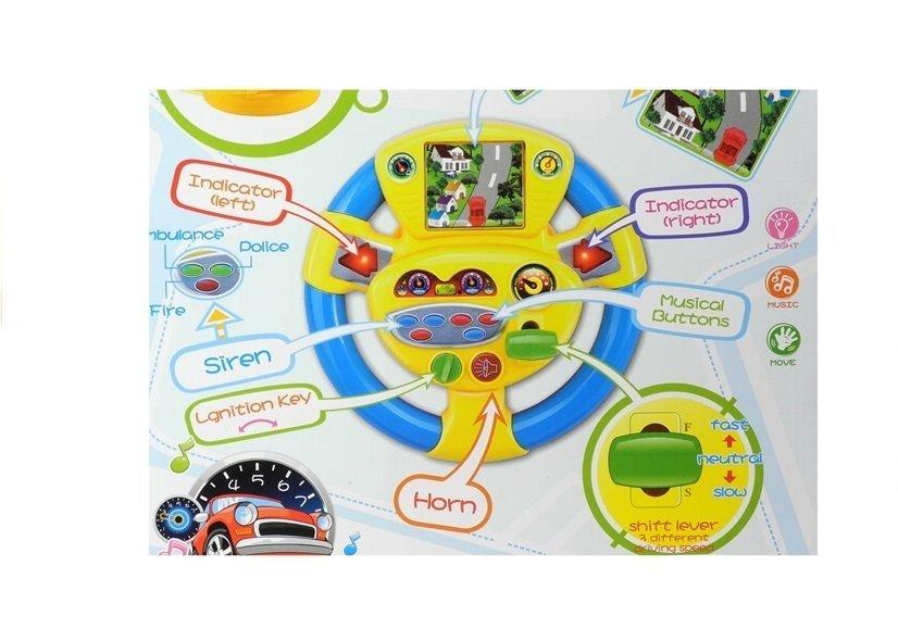 interaktives lenkrad f r baby sound und lichteffekte spielzeug f r kinder spielzeug f r babys. Black Bedroom Furniture Sets. Home Design Ideas