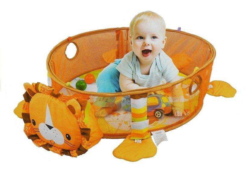 krabbeldecke 30 b lle 4 bunte anh nger l we set spielzeug f r babys spielzeug f r babys. Black Bedroom Furniture Sets. Home Design Ideas