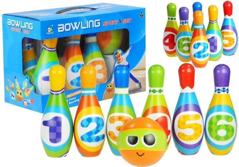 kegel mit ziffern bowling f r kleine kinder kegel bowlingset spielzeug f r kind spielzeug. Black Bedroom Furniture Sets. Home Design Ideas