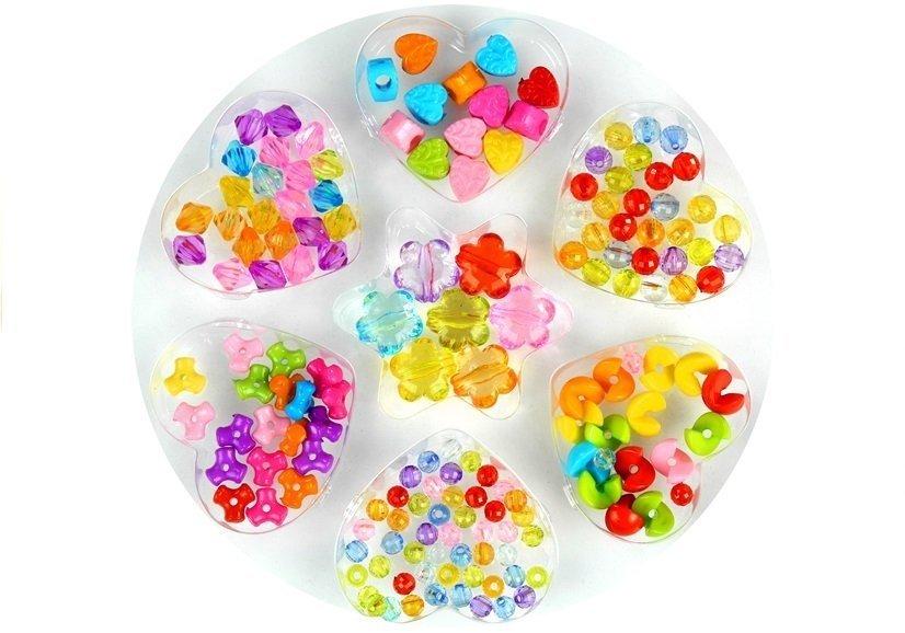 set kunststoffperlen perlenset 7 arten von perlen bastelset f r kinder 6 set spielzeug. Black Bedroom Furniture Sets. Home Design Ideas