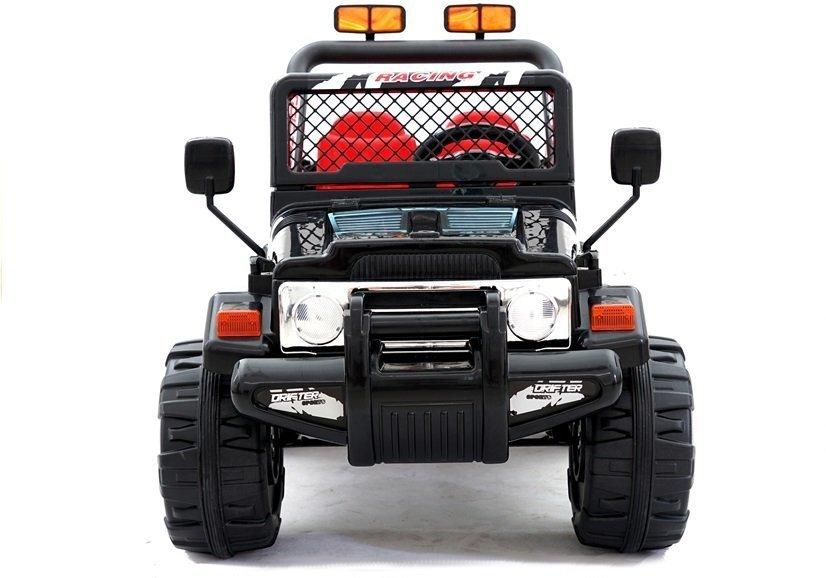 elektroauto f r kinder jeep raptor schwarz. Black Bedroom Furniture Sets. Home Design Ideas