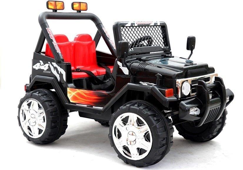 elektroauto f r kinder off road jeep raptor schwarz mp3. Black Bedroom Furniture Sets. Home Design Ideas