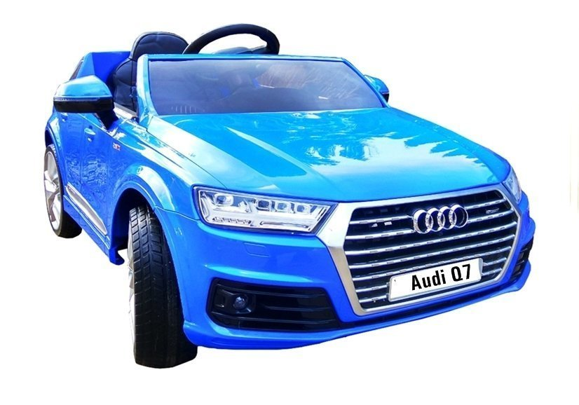 elektroauto f r kinder audi q7 s line blau ledersitz 2 4g. Black Bedroom Furniture Sets. Home Design Ideas