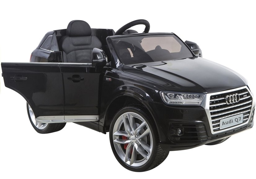 elektroauto f r kinder audi q7 s line schwarz lackiert. Black Bedroom Furniture Sets. Home Design Ideas