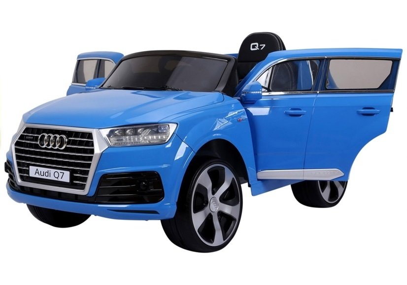 elektroauto f r kinder audi q7 standard eva reifen blau. Black Bedroom Furniture Sets. Home Design Ideas