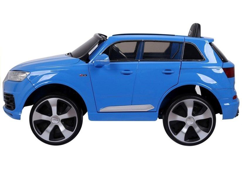 elektroauto f r kinder audi q7 standard eva reifen blau. Black Bedroom Furniture Sets. Home Design Ideas