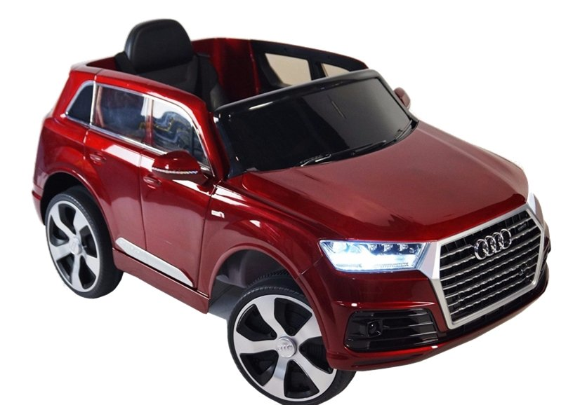 elektroauto f r kinder audi q7 standard eva reifen rot ledersitz auto f r kinder. Black Bedroom Furniture Sets. Home Design Ideas