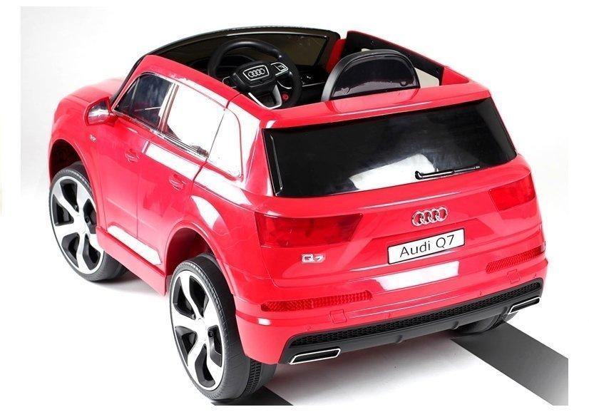 elektroauto f r kinder audi q7 standard eva reifen rot ledersitz elektrofahrzeuge autos. Black Bedroom Furniture Sets. Home Design Ideas