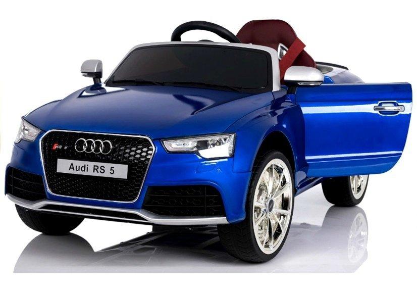 elektroauto f r kinder audi rs blau lackiert eva reifen. Black Bedroom Furniture Sets. Home Design Ideas