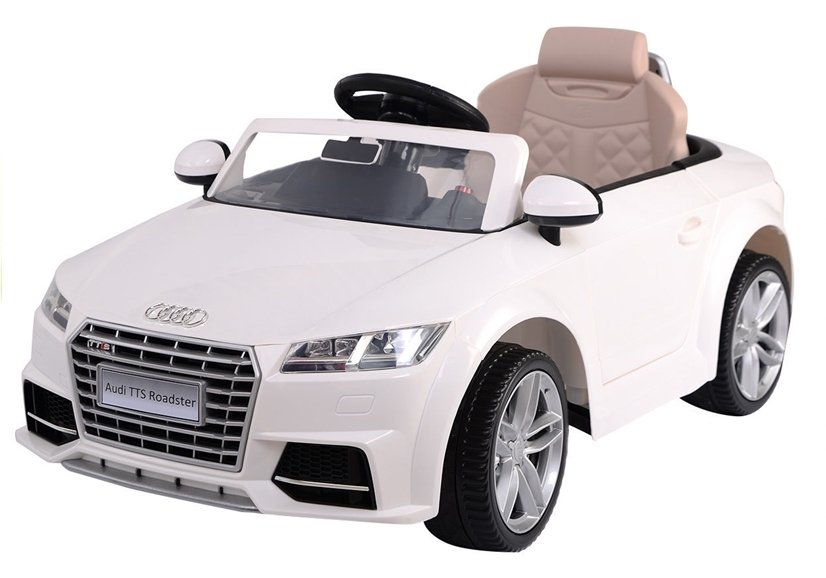 elektroauto f r kinder audi tt rs wei eva reifen. Black Bedroom Furniture Sets. Home Design Ideas