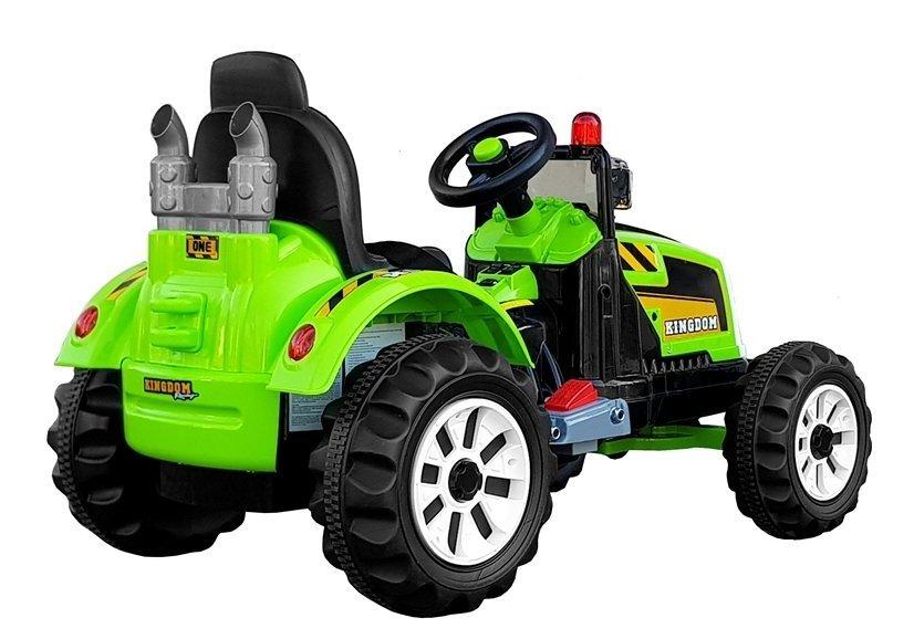 elektroauto f r kinder baggerlader traktor schlepper gr n kinderfahrzeug elektrofahrzeuge. Black Bedroom Furniture Sets. Home Design Ideas