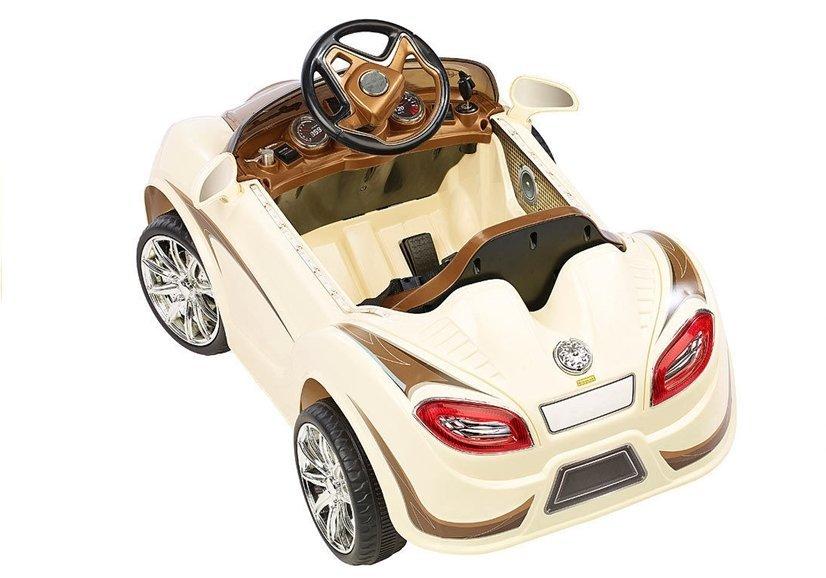 elektroauto f r kinder bugati creme 2 4g led frontscheinwerfer felgen elektrofahrzeuge autos. Black Bedroom Furniture Sets. Home Design Ideas