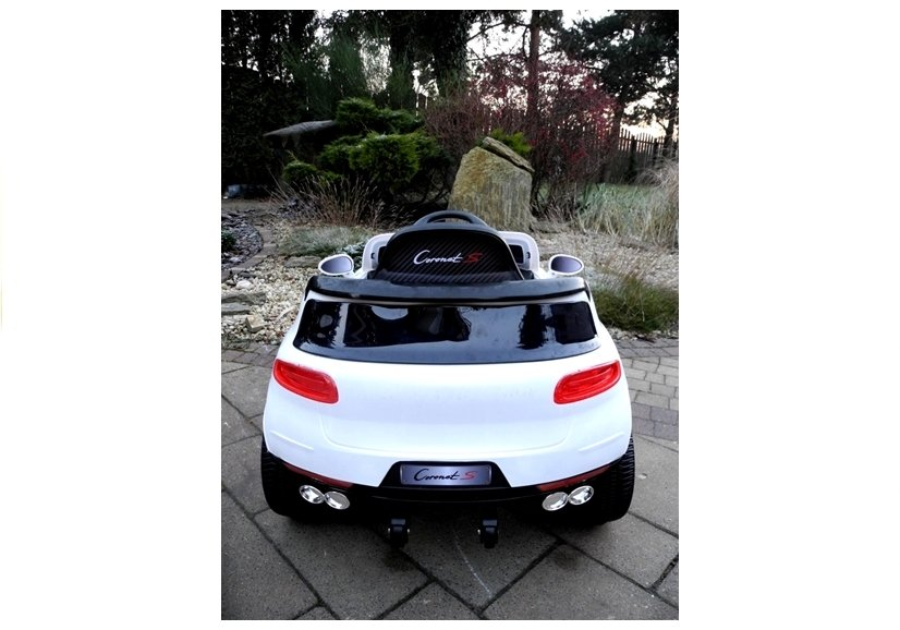 elektroauto f r kinder coronet s wei 2x45w 2 4g ferngesteuert fm radio auto elektrofahrzeuge. Black Bedroom Furniture Sets. Home Design Ideas