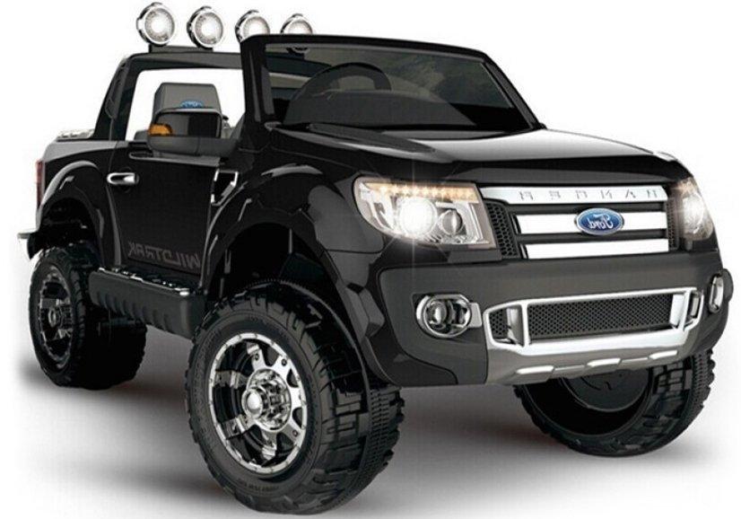 elektroauto f r kinder ford ranger schwarz 12v7ah 2x45w. Black Bedroom Furniture Sets. Home Design Ideas