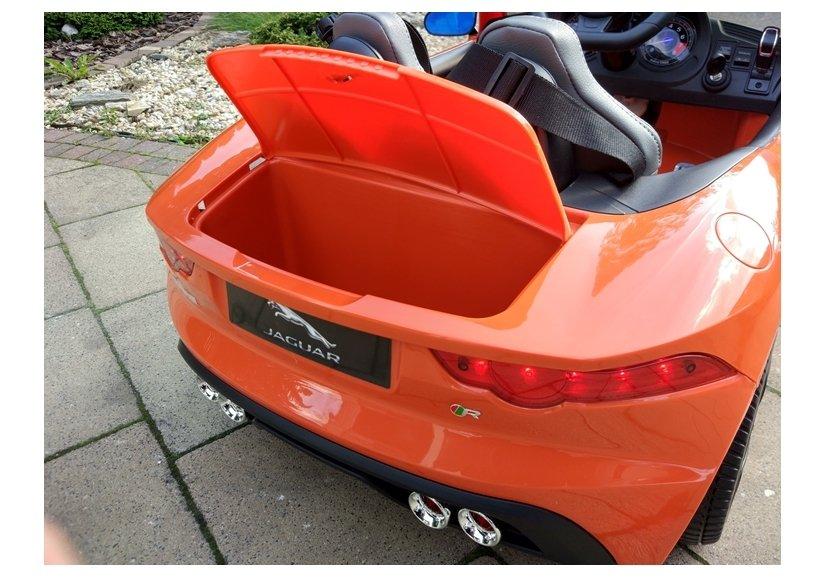 Elektroauto Für Kinder Jaguar F-Type Orange Ledersitz