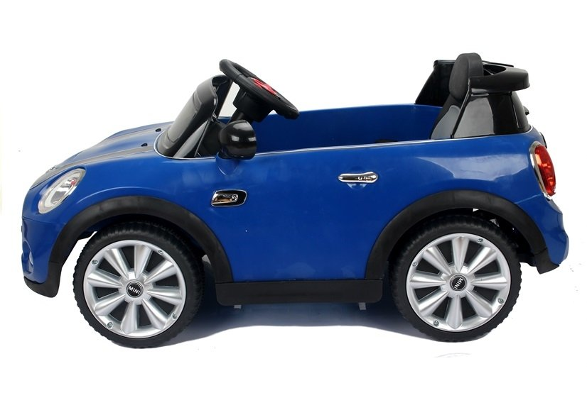 elektroauto f r kinder mini cooper s blau ledersitz elektrofahrzeuge autos. Black Bedroom Furniture Sets. Home Design Ideas
