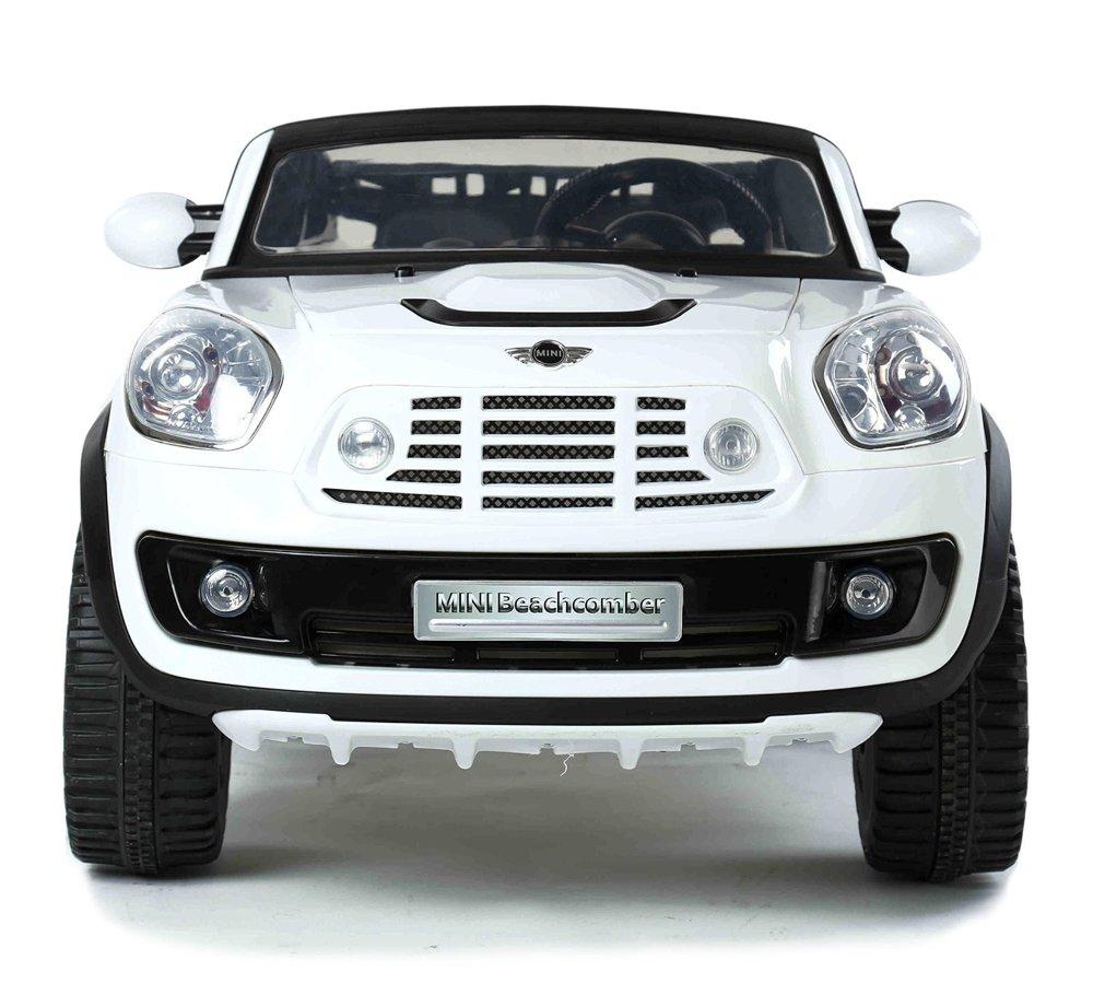 elektroauto f r kinder mini cooper wei gro ledersitz led beleuchtung elektrofahrzeuge autos. Black Bedroom Furniture Sets. Home Design Ideas
