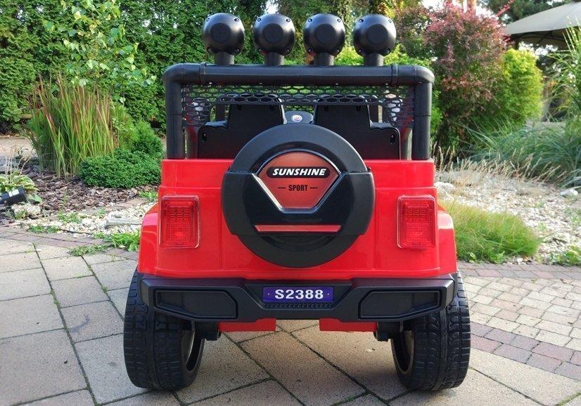 elektroauto f r kinder s2388 off road jeep rot 2 4g eva. Black Bedroom Furniture Sets. Home Design Ideas